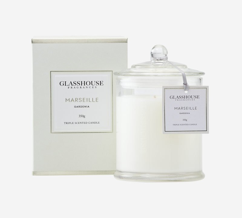 glasshouse fragrances candle marseille gardenia 1 1 1 - Shop for flowers online