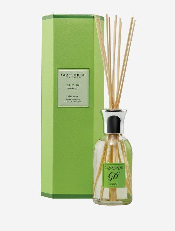 glasshouse fragrances diffuser saigon lemongrass 3 1 - Saigon  - Glasshouse Diffuser