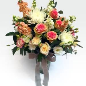 vintage love flower arangement