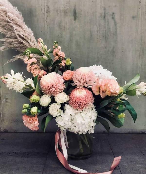 abundant love floral arrangement